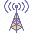 communication tower, signal tower, wifi antenna, wifi tower icon