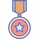 achievement, badge, medal, quality icon
