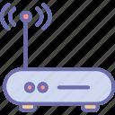 internet device, wifi modem, wifi router, wifi signals icon
