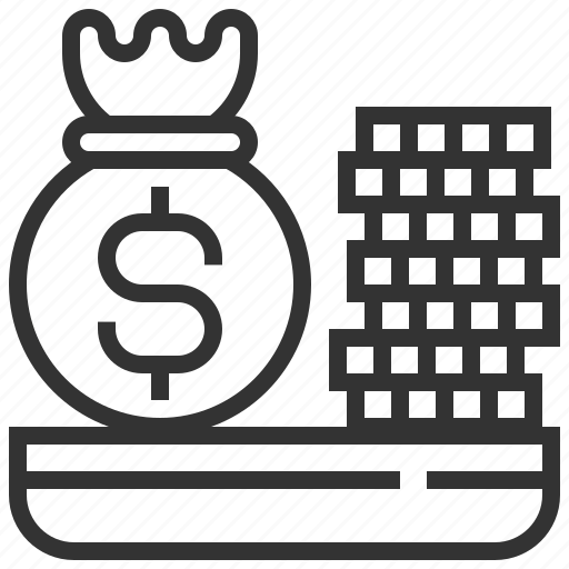bank, coin, currency, finance, growth, money, payment icon