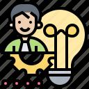 creative, employee, idea, innovative, inspiration icon