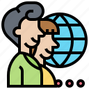 company, global, international, outsource, service icon