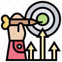 achieve, ambition, goal, successful, target icon