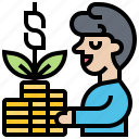 growth, inflation, investment, money, profit icon