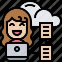 cloud, digital, data, document, storage