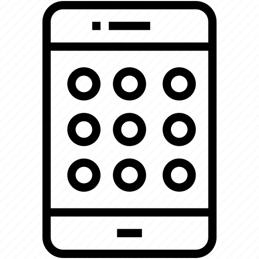 android lock, mobile, mobile lock, pattern lock, smartphone icon