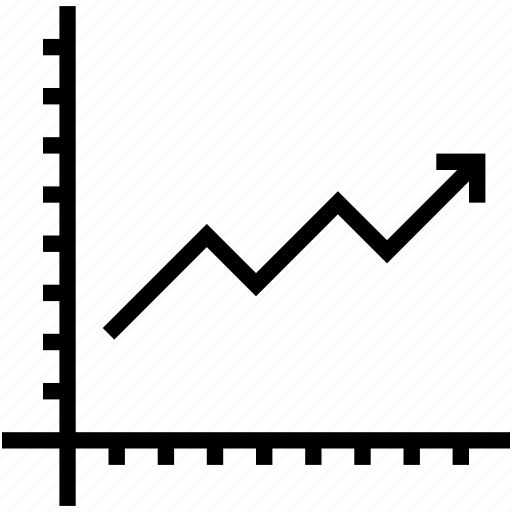 analytics, graph, growth chart, line graph, seo graph icon