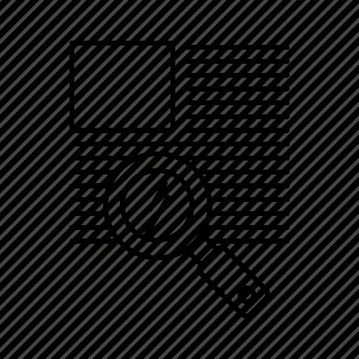 line, reading, text, zoom icon