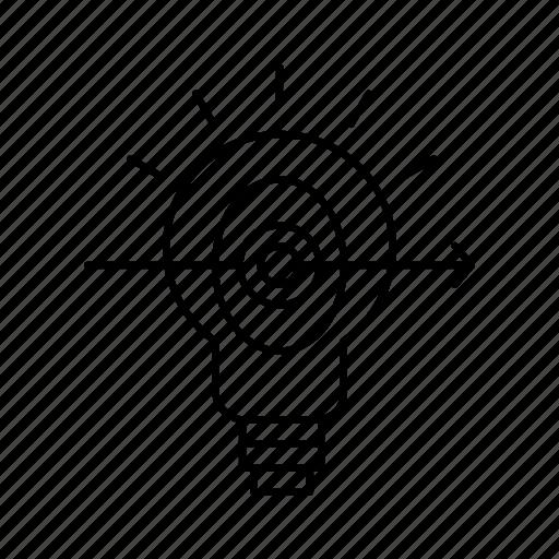 bulb, business, focus, success icon