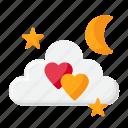 stand, valentine, love, night