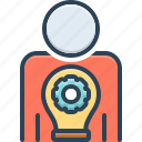 improve, master, master your skill, person, setting, skill, your icon