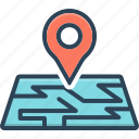 app, localization, location, map, navigation, pointer, thumbtack icon
