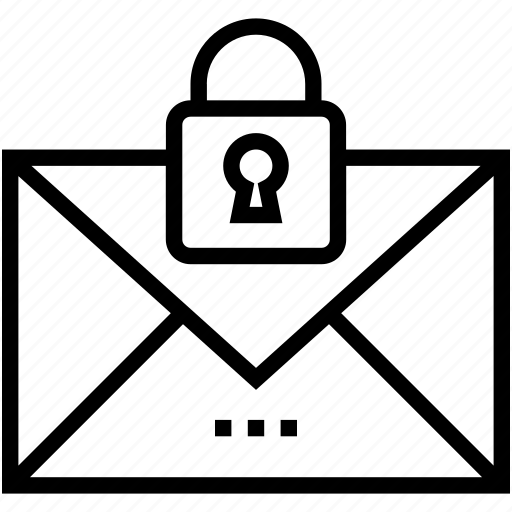 email, email security, letter, privacy, secure mail icon