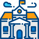 building, college, construction, education, school, university icon
