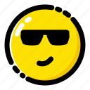 cool, emoji, emoticon, expression icon