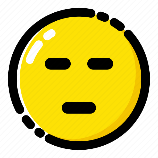 emoji, emoticon, expression, expressionless icon
