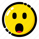 emoji, emoticon, expression, surprised icon