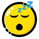 emoji, emoticon, expression, sleep icon