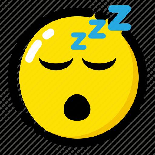 emoji, emoticon, expression, sleep icon