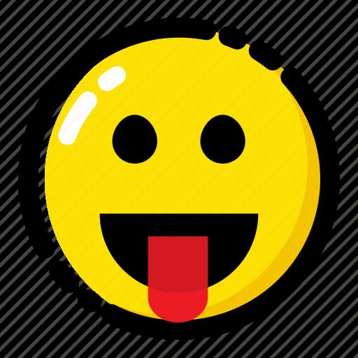 cheeky, emoji, emoticon, expression icon