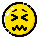 embarrassing, emoji, emoticon, expression icon