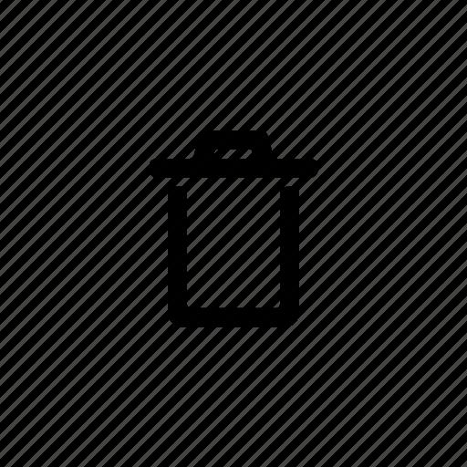 cancel, clear, close, delete, erase, remove, trash icon