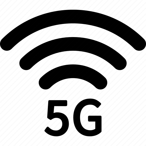 5g, cellular, internet, mobile, network, signal, wireless icon