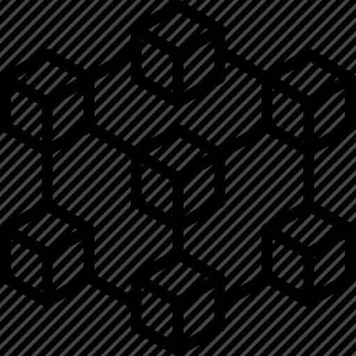 block, blockchain, chain, crypto, cryptocurrency, ledger, technology icon