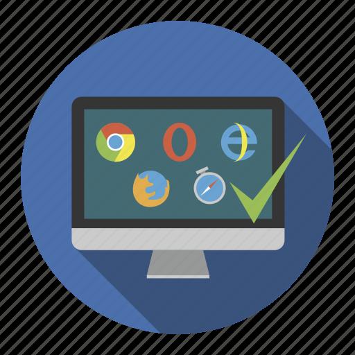 browser, crossbrowzer, internet, optimization, web icon
