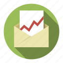 business, chart, chat, communication, connection, correspondence, email, envelope, internet, letter, mail, message, missive, talk, web, writing icon
