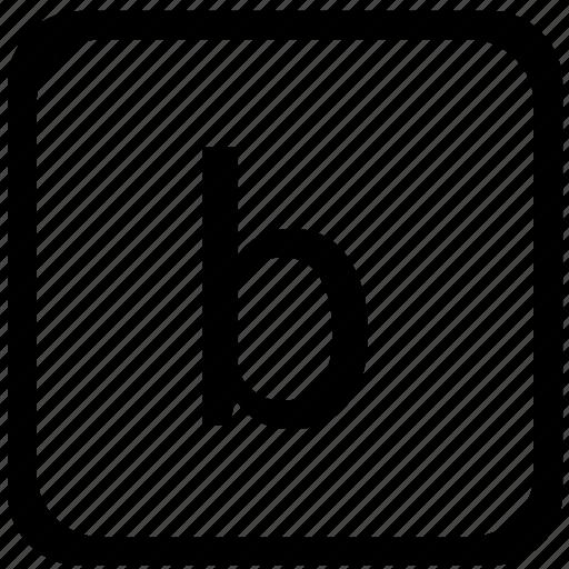 b, case, keyboard, letter, lower icon