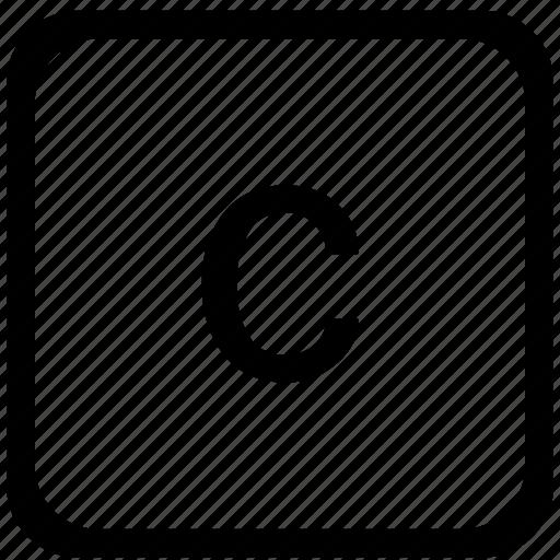 c, case, key, keyboard, lower icon
