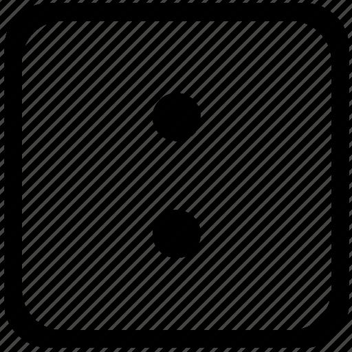 colon, dots, key, keyboard, label, sign icon