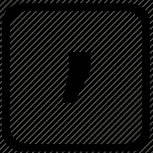 comma, key, keyboard, sign icon