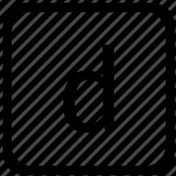 case, d, key, keyboard, lower icon