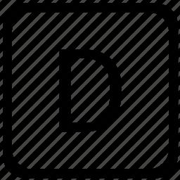 case, d, key, keyboard, upper icon
