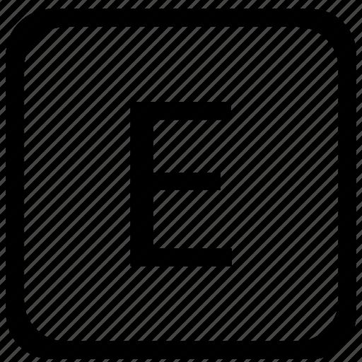 case, e, key, keyboard, letter, upper icon