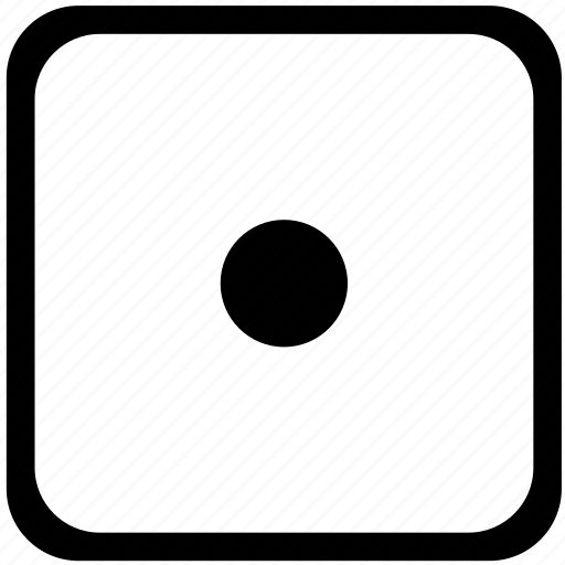 dot, key, keyboard, record, sign icon