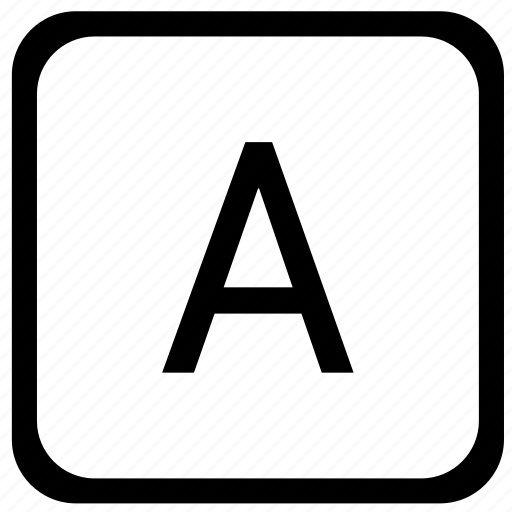 a, key, keyboard, letter, uppercase icon