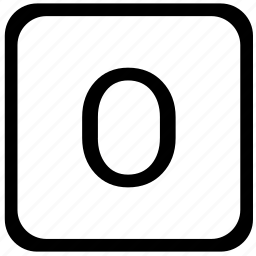case, key, keyboard, letter, o, upper icon