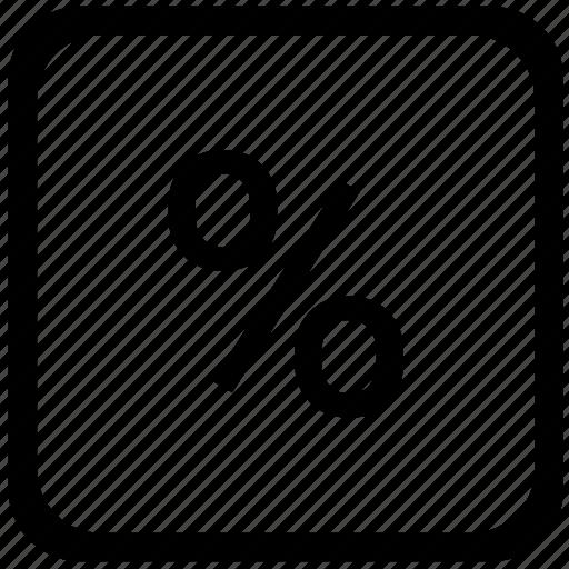 ecomonics, function, key, keyboard, math, percent icon