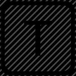 case, key, keyboard, letter, t, upper icon
