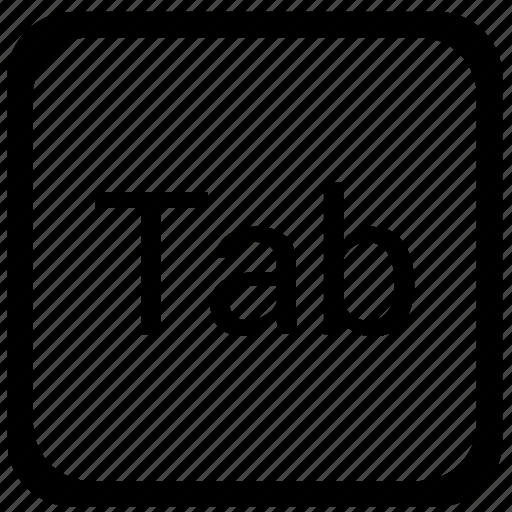 function, key, keyboard, tab icon