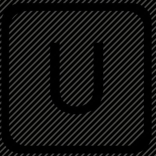 case, key, keyboard, letter, u, upper icon