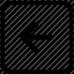 arrow, function, keyboard, left icon