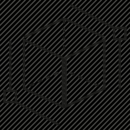 cube, cubic, design, dimension, magnitude icon