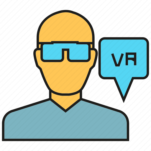 headset, people, virtual reality, vr icon