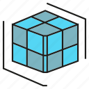 cube, cubic, dice, model, prototype icon