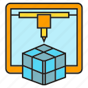 cube, device, maker, model, printer, prototype icon