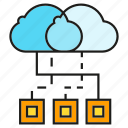 cloud computing, internet, network, server icon